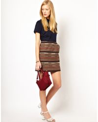 NW3 by Hobbs Nw3 Charlie Shirt Dress with Tapesrty Skirt - Lyst