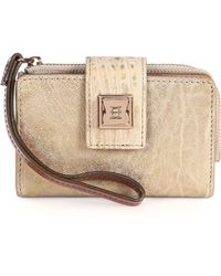 Olivia Harris | Leather Tech Wallet Natural Spice | Lyst