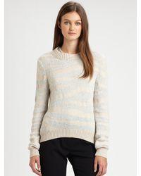 3.1 Phillip Lim Embellished Tiger Stripe Sweater - Lyst