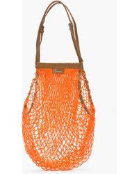 Carven Orange Leathertrimmed Net Bag - Lyst