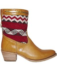Cobra Society Otto Leather Bootie red - Lyst
