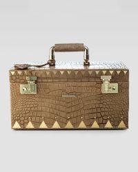 Eddie Borgo - Crocodile Embossed Jewelry Box Brown - Lyst
