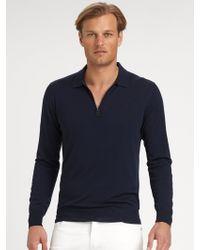 Ferragamo Wool Polo Sweater - Lyst