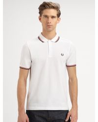 Fred Perry Slimfit Tipped Polo - Lyst