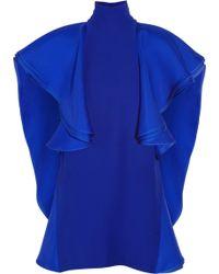 Gucci Ruffled Silk crepe Tunic - Lyst