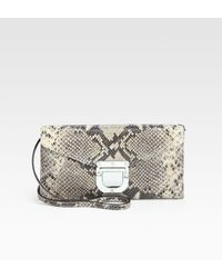 MICHAEL Michael Kors Waverly Leather Convertible Clutch - Lyst
