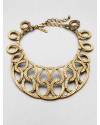 Oscar de la Renta Hammered Loop Collar Necklace - Lyst