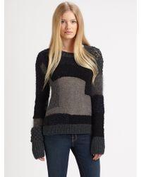 Rebecca Taylor Intarsia Sweater - Lyst