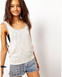 ASOS Collection Asos Vest in Cut and Sew Fabric - Lyst