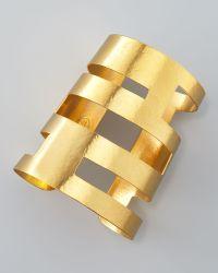 Herve Van Der Straeten Geometric Cutout Cuff - Lyst