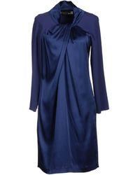 Love Moschino Basic Neckline Dark Blue Short Dress - Lyst