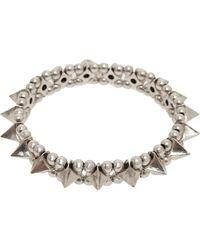 Philippe Audibert Large Spike and Ball Bracelet silver - Lyst