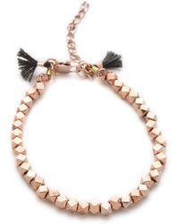 Shashi Nugget Clasp Bracelet - Rose Gold - Lyst