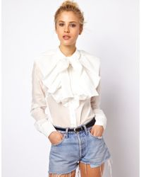 ASOS Collection | Shirt with Dramatic Collar and Bow | Lyst