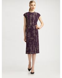 Bottega Veneta Jersey Skyline Dress - Lyst