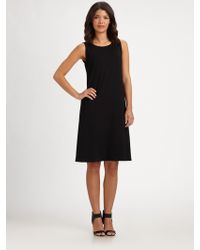 Eileen Fisher Sleeveless Jersey Shift Dress - Lyst