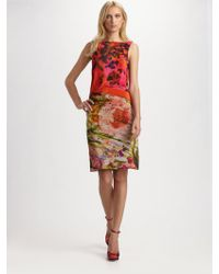 Erdem Printed Shift Dress - Lyst