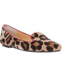 Just Ballerinas - Leopard Print Slipper - Lyst