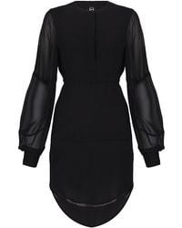 McQ by Alexander McQueen Silk Tunic Dress - Lyst