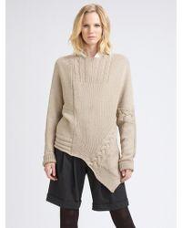 Piazza Sempione Asymmetric Wool Sweater - Lyst