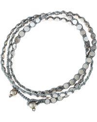 Serefina - Triple Wrap Disk Bracelet Silver - Lyst