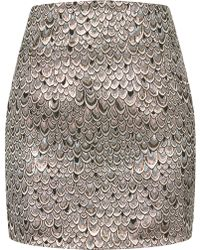 Topshop Bird Skin Skirt silver - Lyst