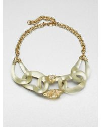 Alexis Bittar Lucite and Semiprecious Stone Link Necklace - Lyst