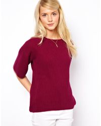 ASOS Collection Flared Sleeved Jumper red - Lyst