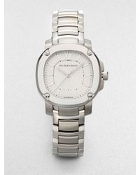 Burberry Stainless Steel Octagonal Watch - Lyst