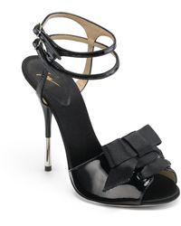 Giuseppe Zanotti Bow High Heel Sandals - Lyst