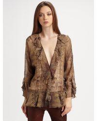 Haute Hippie Silk Drape Blouse - Lyst