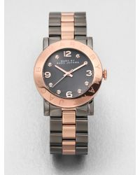 Marc By Marc Jacobs Two Tone Stainless Steel Watch - Lyst