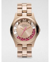 Marc By Marc Jacobs Limited Edition Henry Skeleton Rose Goldfinished Stainless Steel Bracelet Watchpink - Lyst