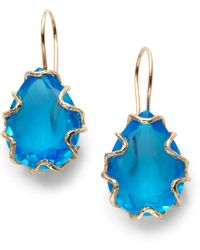 Nunu - Teardrop Bezel Earringsblue Quartz - Lyst
