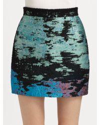 Proenza Schouler Tweed Mini Skirt - Lyst