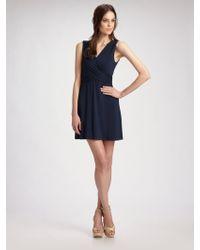 Theory Wraparound Stretch Dress - Lyst