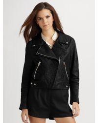 Acne Studios Rita Leather Biker Jacket - Lyst