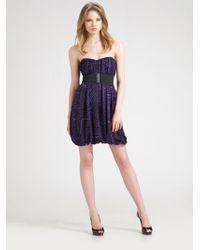 BCBGMAXAZRIA Strapless Jersey Mini Dress - Lyst