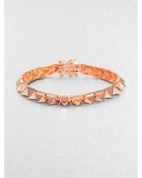 Eddie Borgo Small Pyramid Bracelet/Rose Goldtone - Lyst
