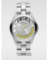 Marc By Marc Jacobs Limited Edition Henry Skeleton Stainless Steel Bracelet Watchyellow - Lyst