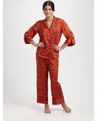 Natori Lotus Brocade Pajamas - Lyst