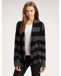 Splendid Striped Cashmere Cardigan - Lyst