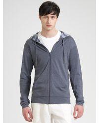 American Essentials - Reversible Doublelayer Hooded Sweatshirt - Lyst