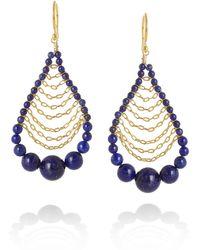 Chan Luu Goldplated Lapis Lazuli Drop Earrings - Lyst