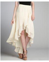 Dress the Population - Ivory Chiffon Highlow Aubrey Skirt - Lyst