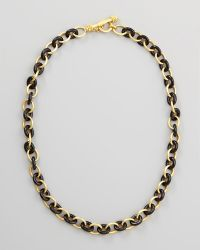 Elizabeth Locke - 19k Gold Black Jade Chain Necklace - Lyst