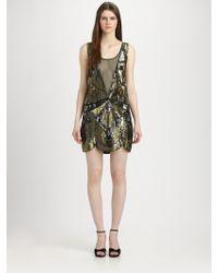 Haute Hippie Embellished Silk Illusion Dress - Lyst