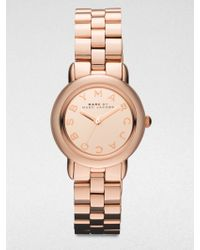 Marc By Marc Jacobs Amy Rose Goldtone Stainless Steel Bracelet Watch - Lyst
