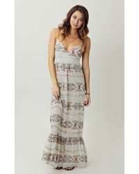 Twelfth Street Cynthia Vincent Leather Strap Halter Maxi Dress - Lyst
