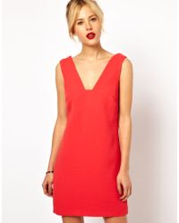 ASOS Collection Deep Plunge Shift Dress - Lyst